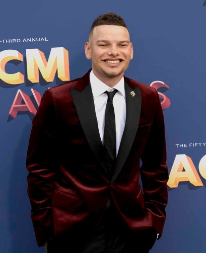 The 53rd Academy of Country Music Awards red carpet is held at the MGM Grand Garden Arena on the Las Vegas Strip. Here singer/songwriter and nominee for New Male Vocalist of the Year, Song of the Year and Vocal Event of the Year Kane Brown walks the ACM red carpet. Sunday, April 15, 2018. CREDIT: Glenn Pinkerton/Las Vegas News Bureau