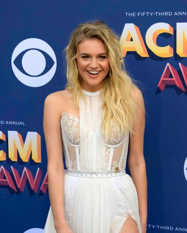 The 53rd Academy of Country Music Awards red carpet is held at the MGM Grand Garden Arena on the Las Vegas Strip. Here singer/songwriter and nominee for Female Vocalist of the Year and Video of the Year Kelsea Ballerini walks the ACM red carpet. Sunday, April 15, 2018. CREDIT: Glenn Pinkerton/Las Vegas News Bureau
