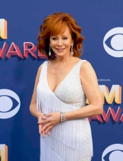 The 53rd Academy of Country Music Awards red carpet is held at the MGM Grand Garden Arena on the Las Vegas Strip. Here actress, singer/songwriter, host and nominee for Female Vocalist of the Year Reba McEntire walks the ACM red carpet. Sunday, April 15, 2018. CREDIT: Glenn Pinkerton/Las Vegas News Bureau