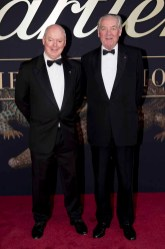 CANBERRA, AUSTRALIA - MARCH 27: Gerard Vaughan, NGA Director, and Lord Vestey attends the Cartier: The Exhibition Black Tie Dinner at the National Gallery of Australia on March 27, 2018 in Canberra, Australia. (Photo by Cole Bennetts/Getty Images)