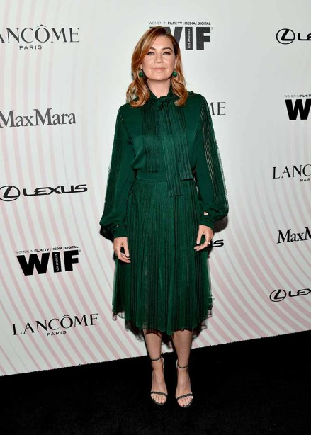 BEVERLY HILLS, CA - JUNE 13: Ellen Pompeo attends the Women In Film 2018 Crystal + Lucy Awards presented by Max Mara, Lancôme and Lexus at The Beverly Hilton Hotel on June 13, 2018 in Beverly Hills, California. (Photo by Emma McIntyre/Getty Images for Women In Film)