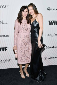 BEVERLY HILLS, CA - JUNE 13: Michaela Watkins (L) and Lake Bell, wearing Max Mara, attend the Women In Film 2018 Crystal + Lucy Awards presented by Max Mara, Lancôme and Lexus at The Beverly Hilton Hotel on June 13, 2018 in Beverly Hills, California. (Photo by Emma McIntyre/Getty Images for Women In Film)