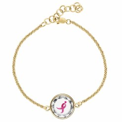 Swarovski Komen Ribbon Gold Plated Bracelet