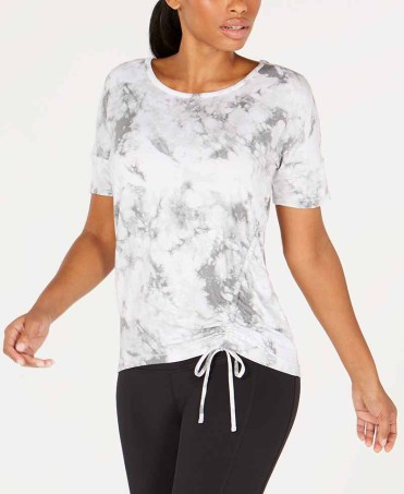 Ideology Tie-Dyed Side-Tie Top