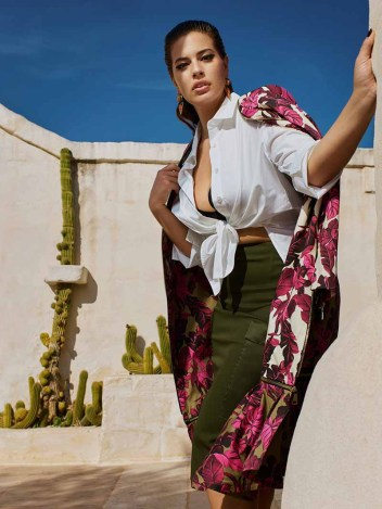 ashley graham for marina rinaldi S19 campaign