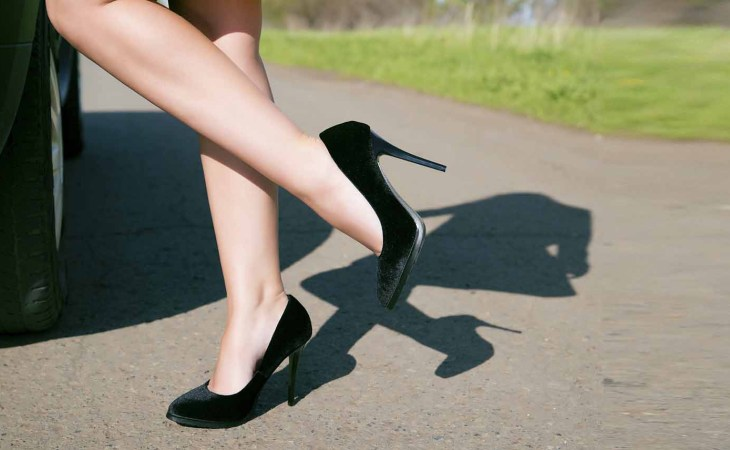 walking in heels