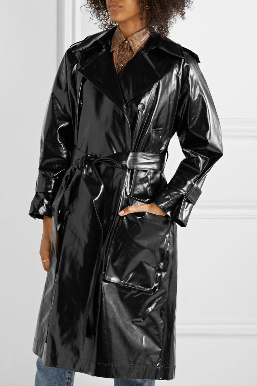 nanushka-ambar-belted-vinyl-trench-coat
