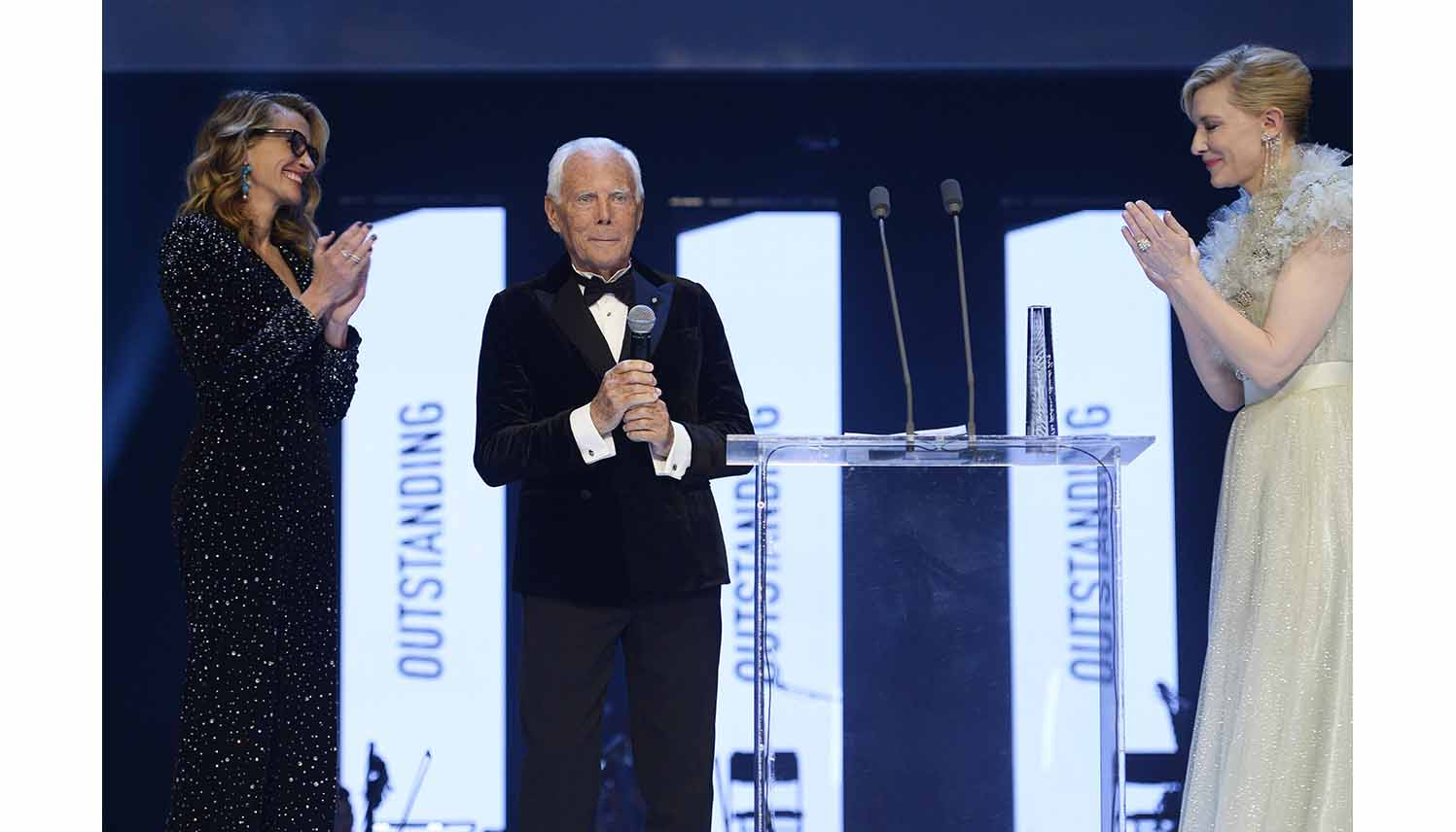 Giorgio Armani Lauded with the Outstanding Achievement Award at the 2019 British Fashion Awards