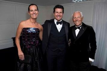 Giorgio Armani with Tom Cruise and Roberta Armani - Photo by Stefano Guindani