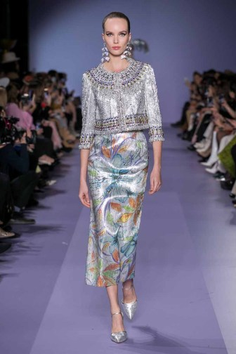 Runway look from the Georges Hobeika Fashion ShowCouture Collection Spring Summer 2020 in Paris
