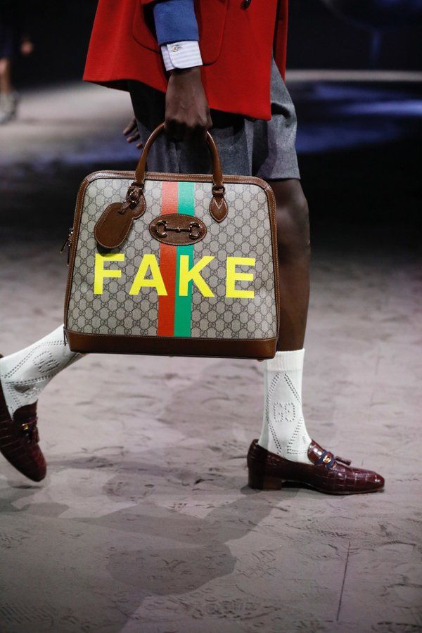 Gucci Gets Ironic With Its' New Bags