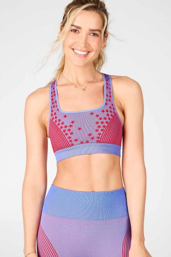 Star Seamless Bra_Crystal Blue-Lipstick Red_Front_01