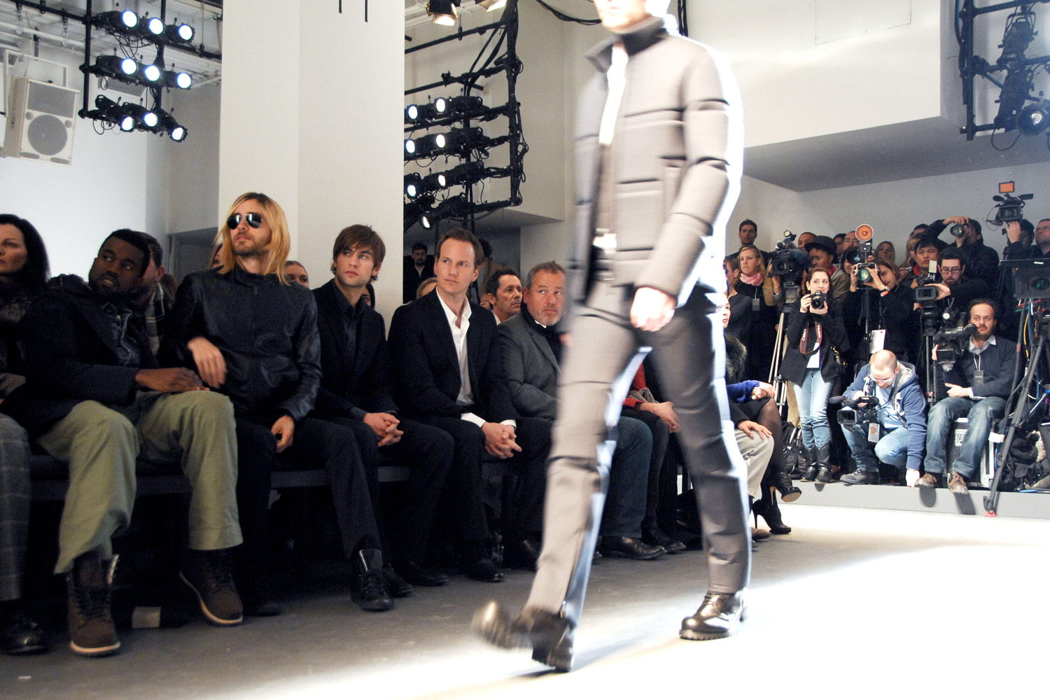 Calvin Klein Men Front Row: Jared Leto, Kanye West, Chace ...