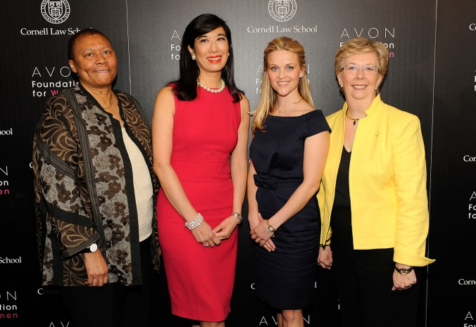 Barbara Holden-Smith, Andrea Jung, Reese Witherspoon, and Joan Winship