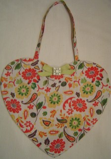 Citrus Floral Cotton Print Tote