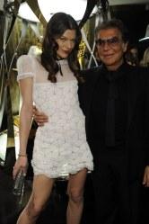 Milla Jovovich and Roberto Cavalli