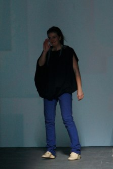 Designer Nerea Lurgain on the runway