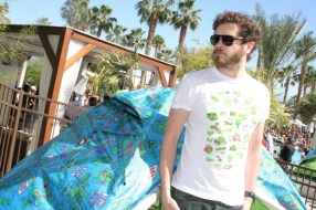 Danny Masterson in front of THE TENT