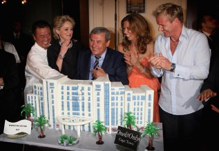 Sharon Stone, Nobu Matsushisa, Heather Kerzner, Sol Kerzner and Gordon Ramsey