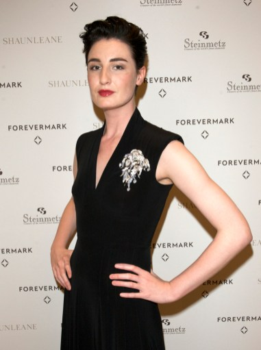 Erin O'Connor wearing the White Light diamond Brooch