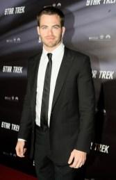Chris Pine plays Capt Kirk in the new Star Trek movie