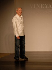Designer Mark Brower on the runway