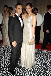 Francisco Costa and Eva Mendes