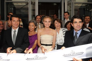The official opening was presided over by the elegant Jaeger-LeCoultre muse, Diane Kruger, the Deputy Mayor of Cannes, Bernard Brochard, and Jaeger-LeCoultre CEo Jérôme Lambert.