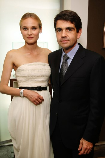 Diane Kruger and Jerome Lambert, Chief Executive Officer of Jaeger-LeCoultre