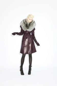Coat Eugenia Lamb skin _ double fox collar