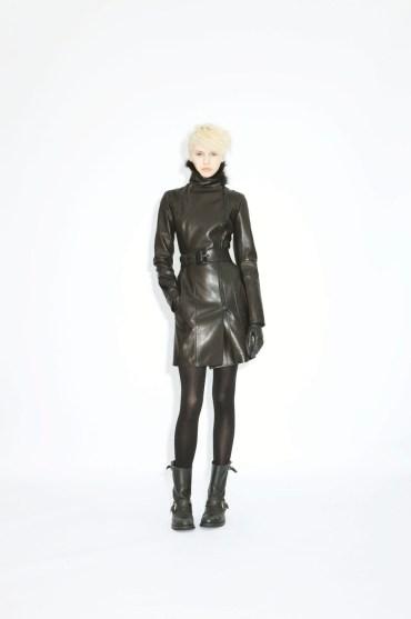 Coat Margot lamb skin fox collar
