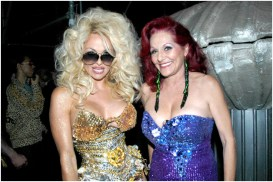 Pamela Anderson and Patricia Field