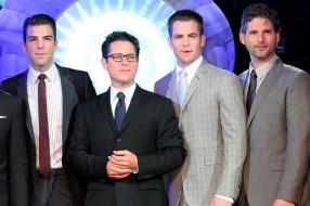 Zachary Quinto; J. J. Abrams; Chris Pine; Eric Bana