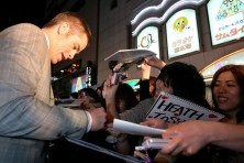 Chris Pine signs autographs for fans