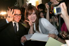 Director J. J. Abrams poses with a fan