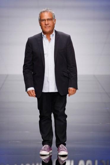 Designer Carlo Pignatelli on the runway