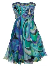 Vintage Emilio Pucci - A playful, pretty haute couture mini silk chiffon strapless dress from the 60s