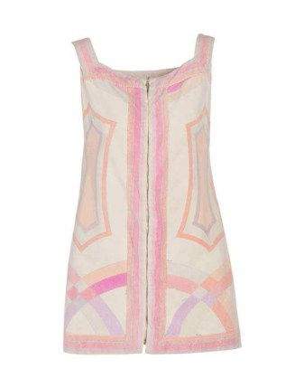 EMILIO PUCCI - A vivid geometric printed beach cover-up from the 1970s