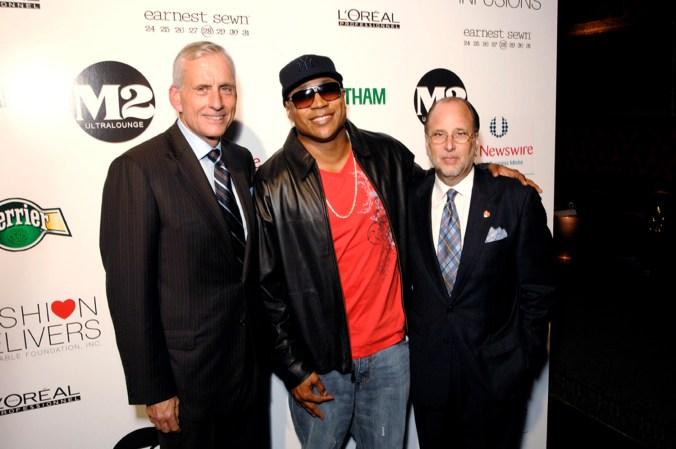 Wes Card, CEO of Jones Apparel Group, LL Cool J, Allan Ellinger, Founder of Fashion Delivers.