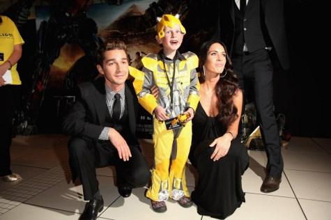 Shia LaBeouf and Megan Fox with Starlight Wish-child, Kai Hamilt