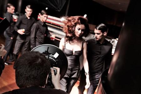 Backstage Campari's calendar 2010
