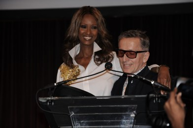 Iman and Simon Doonan