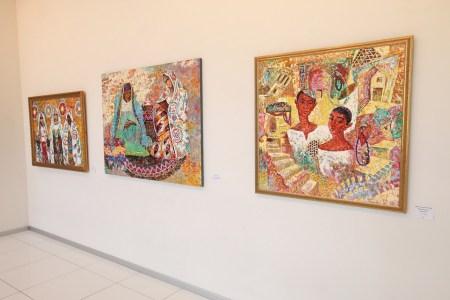 Painting of artist Akmal Nur