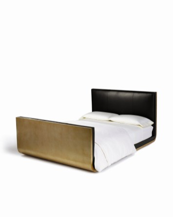 Calvin Klein Home Curator - sleigh bed gold finish