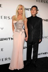 Donatella Versace and Jet Li