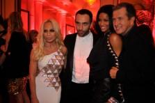 Donatella Versace, Ricardo Tisci, Ciara and Mario Testino