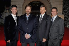 Chairman Walt Disney Studios Rich Ross, Jim Carrey, President and Chief Executive Officer Bob Iger and President, Walt Disney Studios Motion Picture Production Oren Aviv