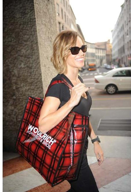 Hilary Swank shopping at Woolrich in Milan