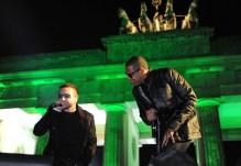 Bono of U2 and rapper Jay-Z