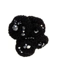 Flos & Florem Crochet and swarovski pin